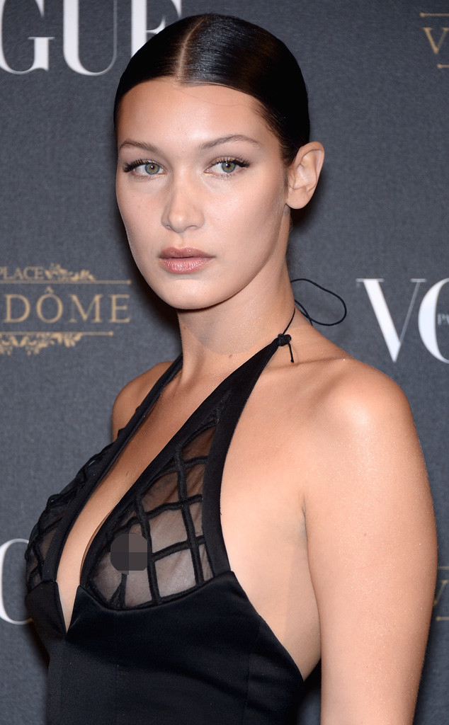 Bella Hadid, Nipple Piercing