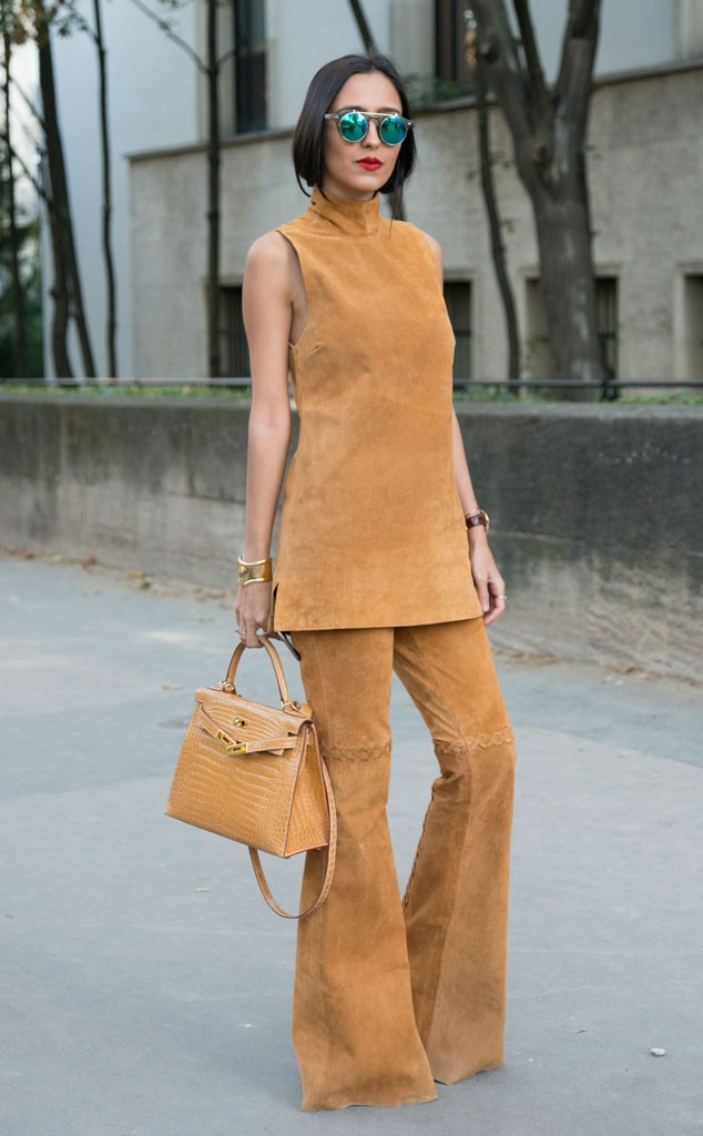 Francesca Monfrinatti From Street Style At Paris Fashion Week Spring 2016 E News