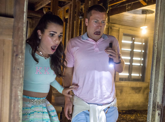 Scream Queens, Haunted House, Lea Michele, Glen Powell