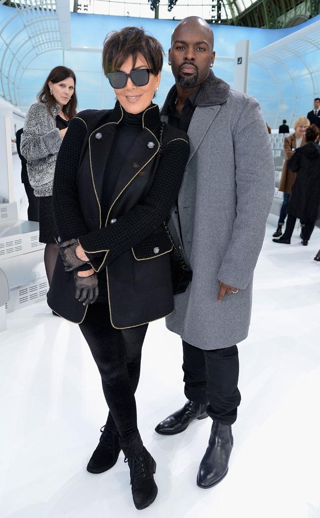 Kris Jenner, Corey Gamble, Stars at Paris Fashion Week