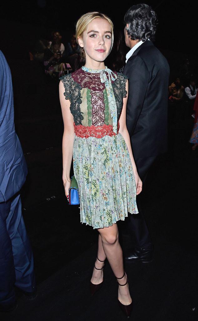 Kiernan Shipka, Stars at Paris Fashion Week