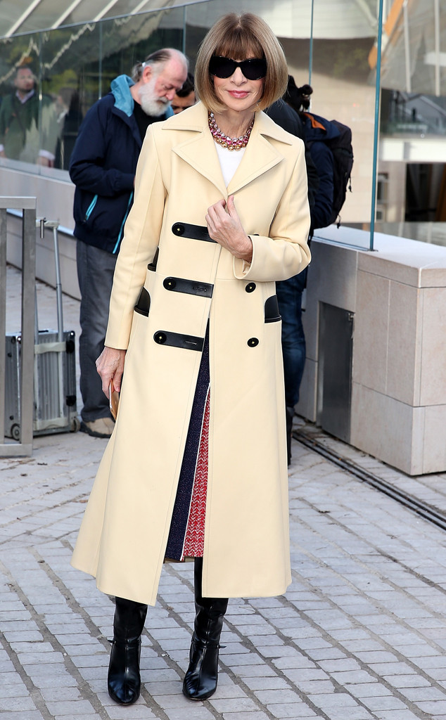 Stars at Paris Fashion Week, Anna Wintour