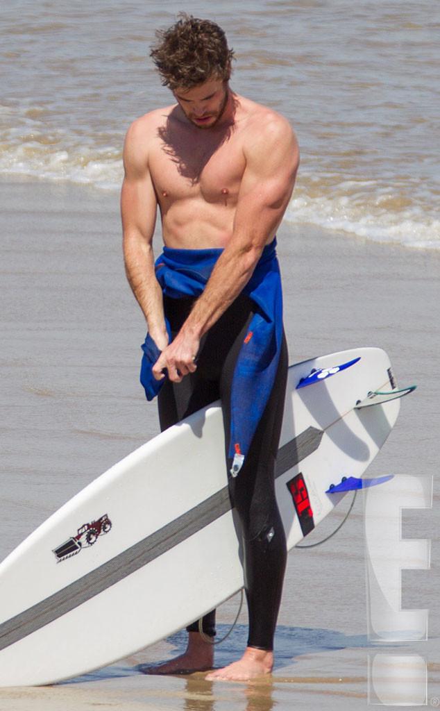 Liam Hemsworth, Surfing, Exclusive