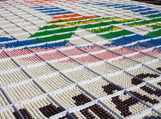 John Lennon Cupcake Mosaic