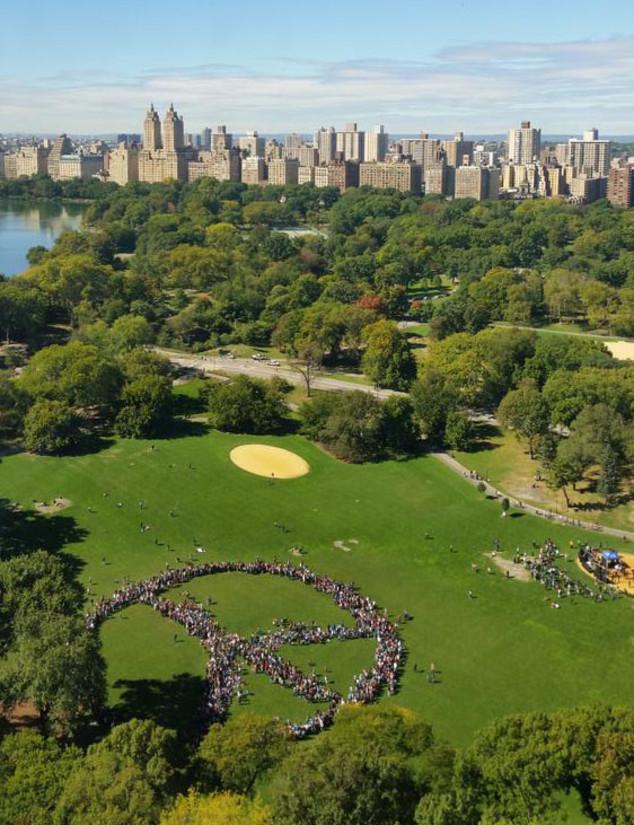 John Lennon Peace Sign, Central Park