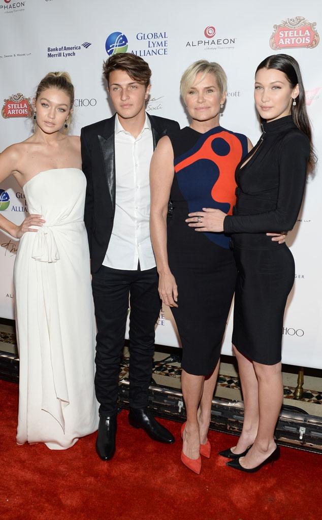 Gigi Hadid, Anwar Hadid, Yolanda Foster, Bella Hadid