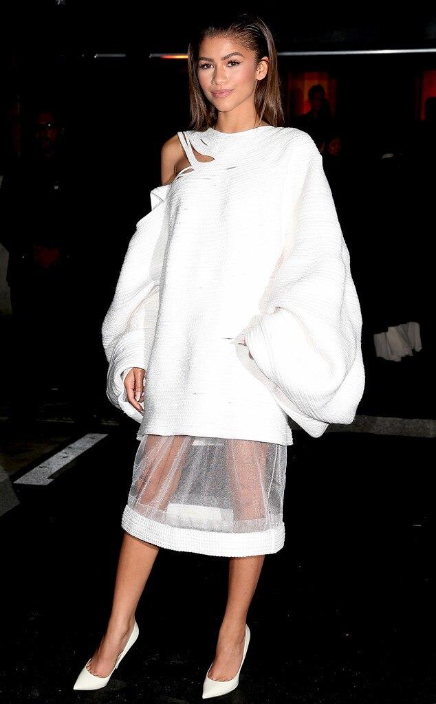 Zendaya, Sheer Skirt