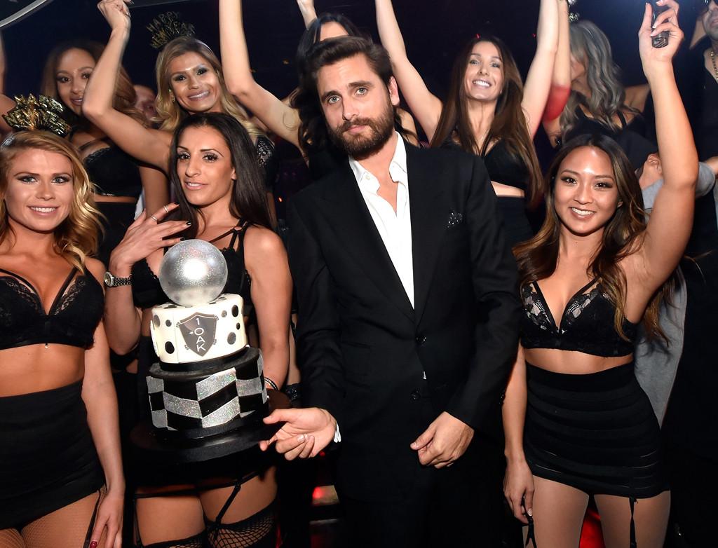 Scott Disick, 1OAK Nightclub Las Vegas, New Year's Eve 2015