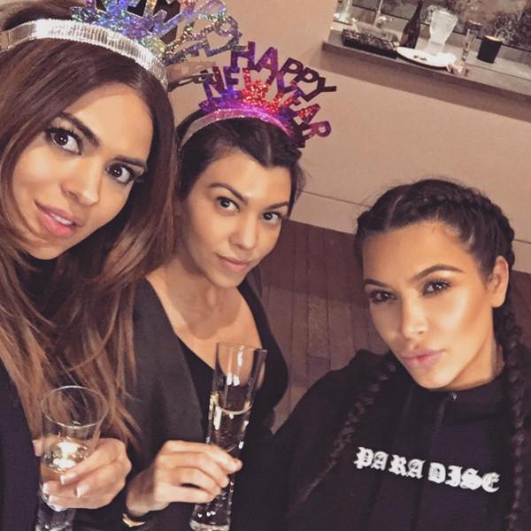 Kim Kardashian, Koutney Kardashian, New Year's Eve 2015