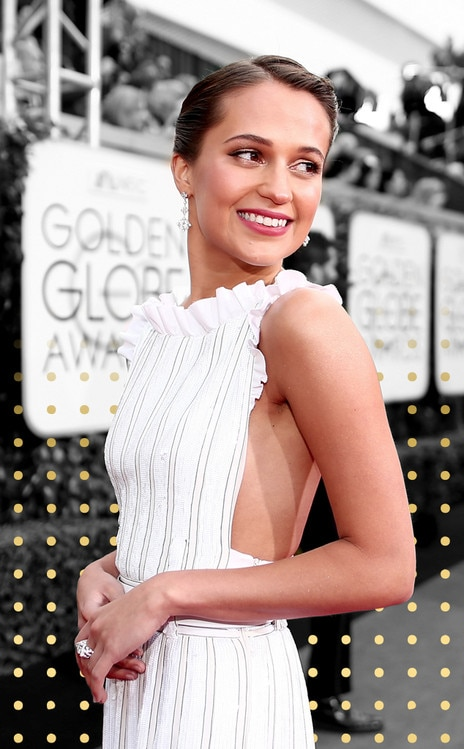 Best Dressed Gallery Cover, Alicia Vikander, Golden Globe Awards