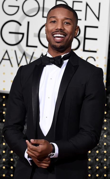 Best Dressed Men Gallery Cover, Michael B. Jordan, Golden Globe Awards