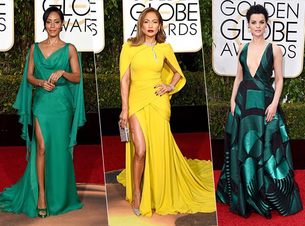2016 Golden Globes Fashion Trends: Jewel Tones, Sequins, Unusual Cutouts & More!