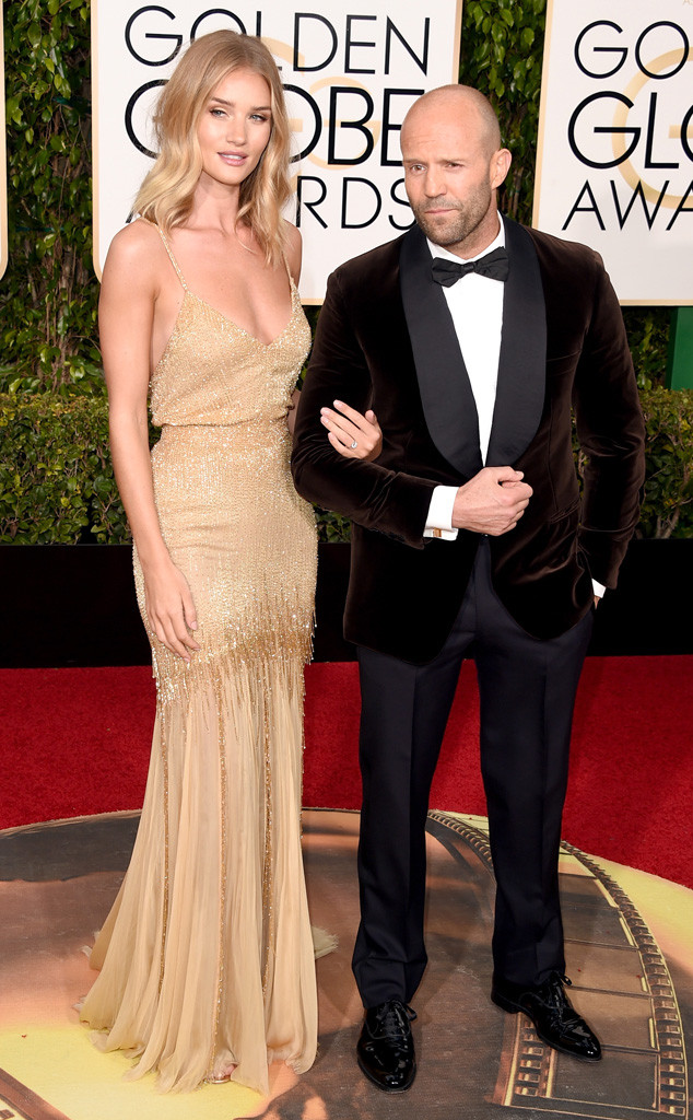 Rosie Huntington-Whiteley and Jason Statham Are Engaged! Model Debuts Giant  Diamond Ring at the 2016 Golden Globes - E! Online