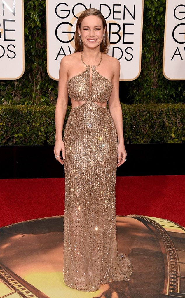 Golden Indeed -  Brie brought home the gold in Calvin Klein Collection at the 2016 Golden Globes, in more ways than one.