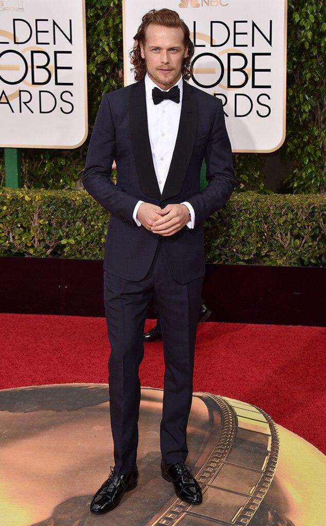 Sam Heughan from Best Dressed Men at the 2016 Golden Globes   E! News