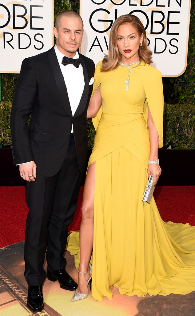 Jennifer Lopez, Casper Smart, Golden Globe Awards Couples