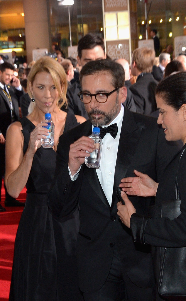 Golden Globe Awards Water, Nancy Carell, Steve Carell