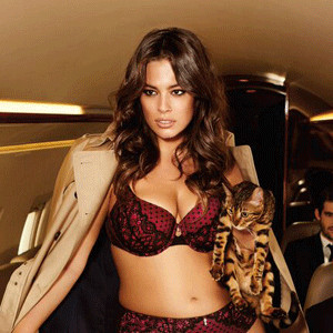 "Ashley Graham Proudly Proclaims ""I Am Size Sexy"" In Purrfect New Lingerie Campaign for Addition Elle"