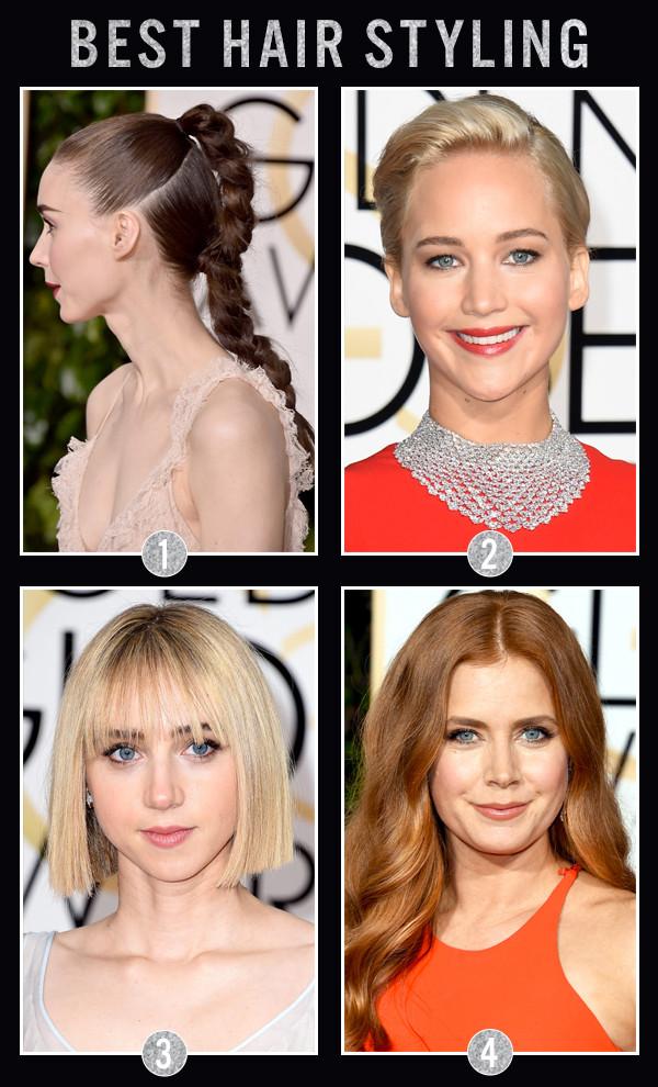 ESC Awards, Golden Globes, Hair Styling