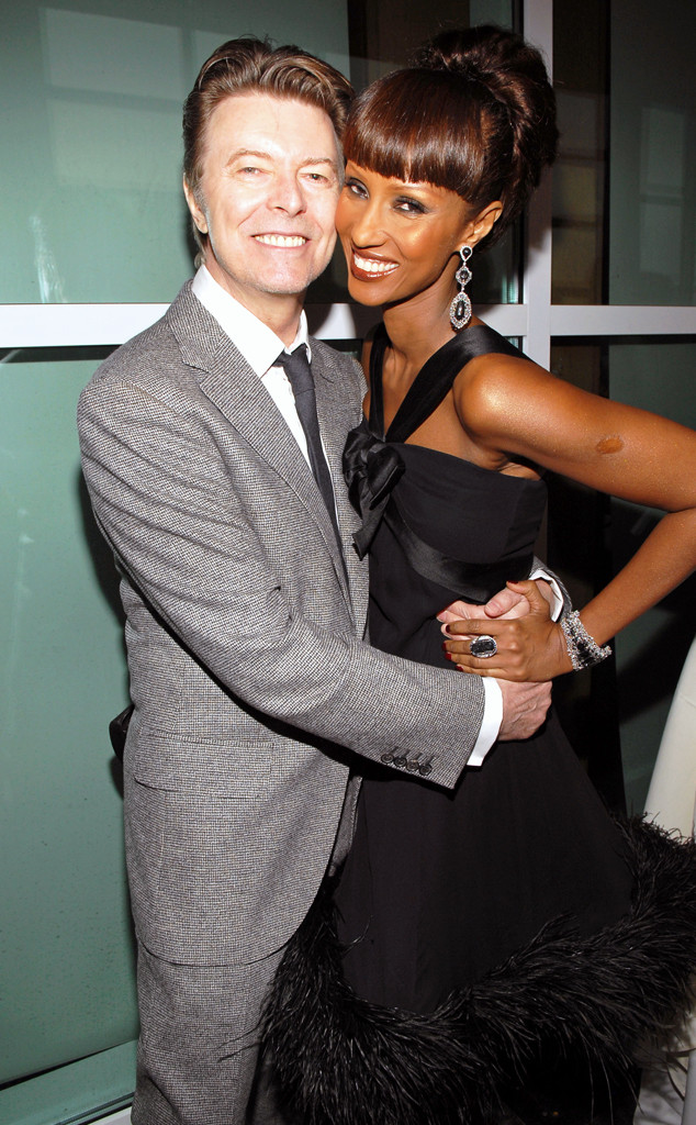 inside david bowie and iman 39 s enduring love story e news. Black Bedroom Furniture Sets. Home Design Ideas