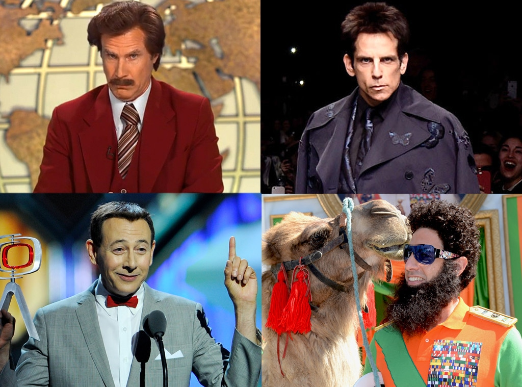 Zoolander, Ron Burgundy, The Dictator, Pee-Wee Herman