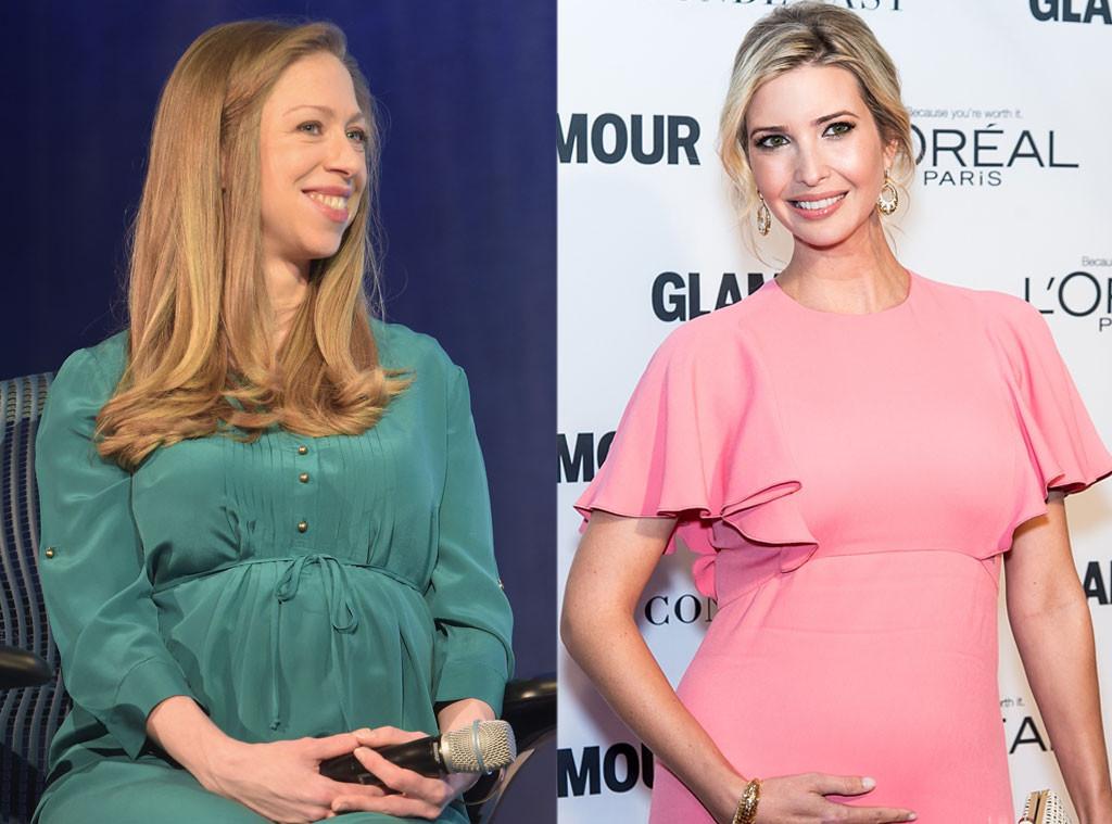 Chelsea Clinton, Ivanka Trump, Pregnant