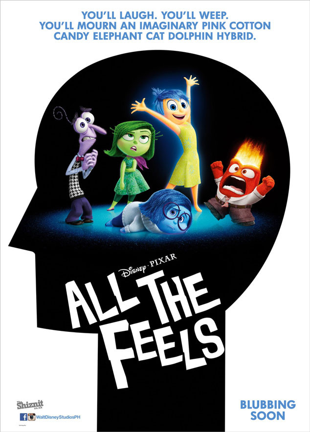 Inside Out Fake Movie Poster All The Feels