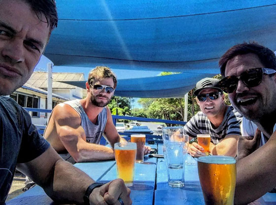 Chris Hemsworth, Instagram