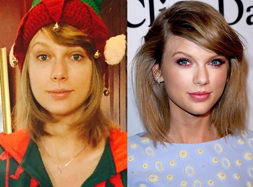 Taylor Swift, Makeup, No Makeup