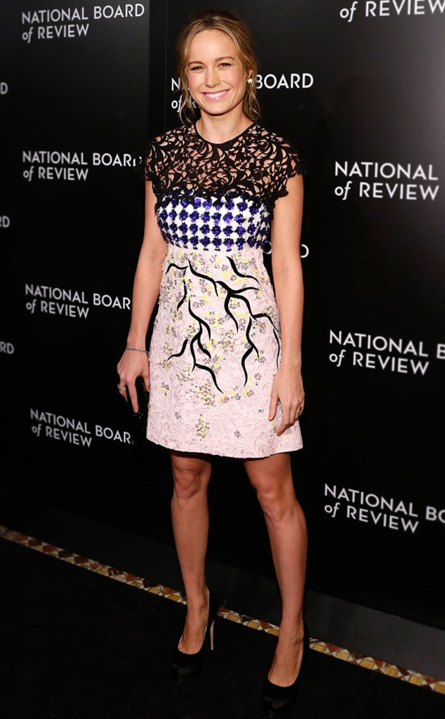 The Fine Print -  Brie looked far from boring in this multi-printed Giambattista Valli dress on  2015 National Board of Review Gala black carpet.