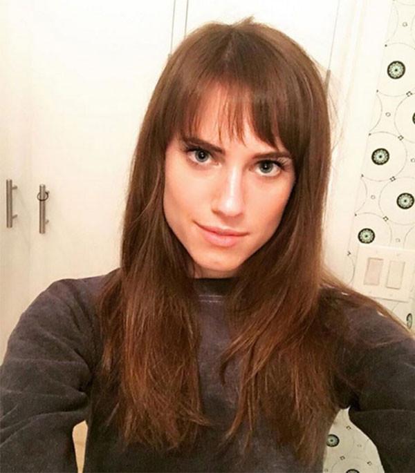 Allison Williams, Hair, Bangs