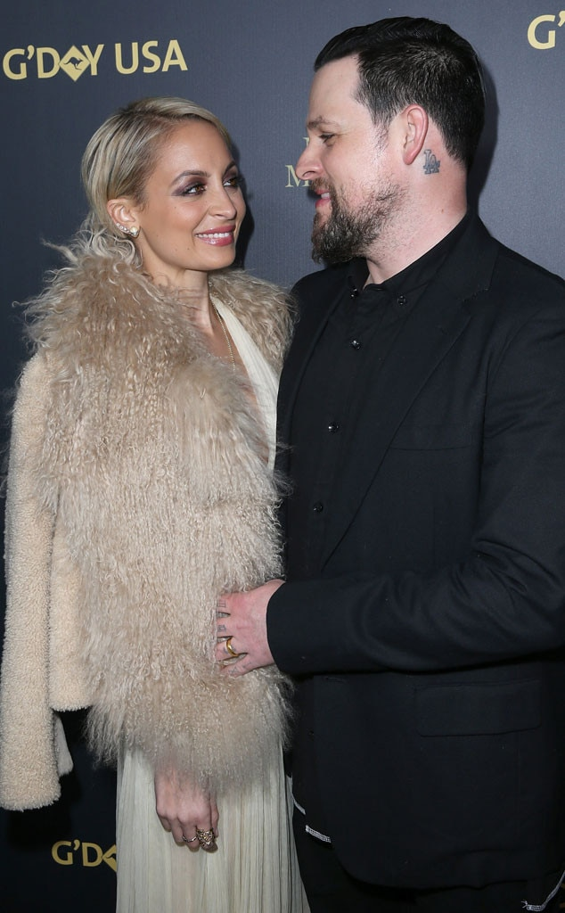 Love fur you -  The Simple Life  star and musician smile at each other at theG'Day Los Angeles Gala in January 2016.
