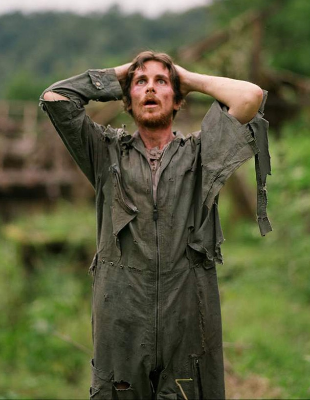 Rescue Dawn  -  A decade before DiCaprio was eating bison liver for  The Revenant , Bale was stomaching maggots to play real-life P.O.W. Dieter Dengler, who weighed 98 pounds when he was finally rescued, in Werner Herzog's Vietnam War drama, which he shot toward the end of 2005 but didn't reach theaters until July 2007. Off went all the Batman weight, as well as a bunch of regular-Bale weight.