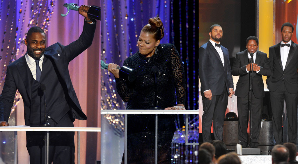 Idris Elba, Queen Latifah, Straight Outta Compton, SAG Awards 2016, Winners