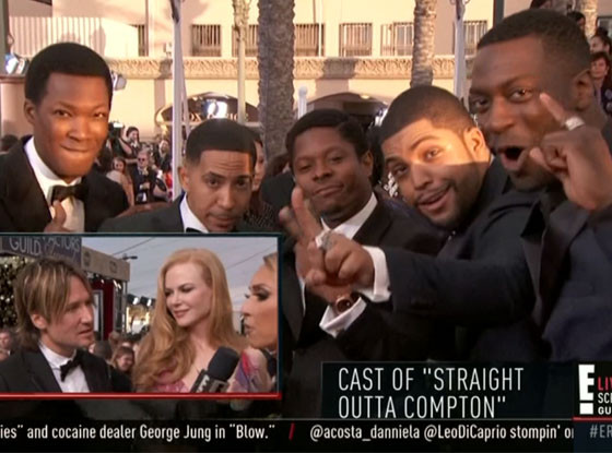 Celebs First SAG Awards GIFs 2016