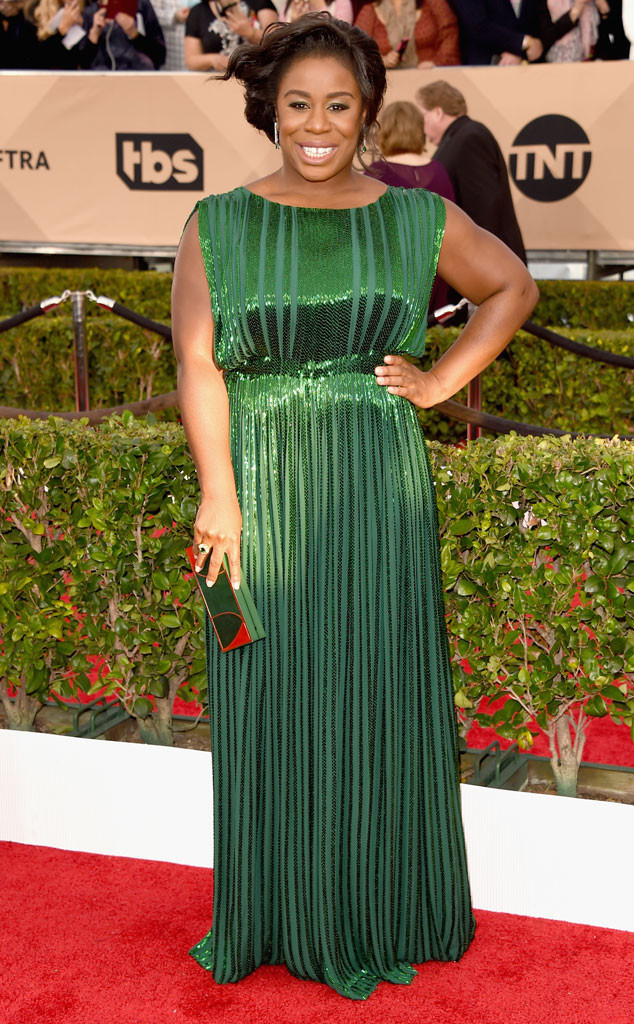 Uzo Aduba, SAG Awards 2016, Arrivals