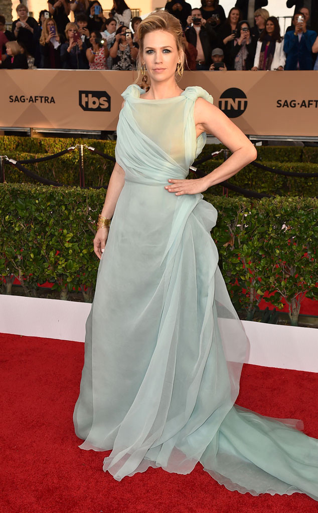 January Jones, SAG Awards 2016, Arrivals