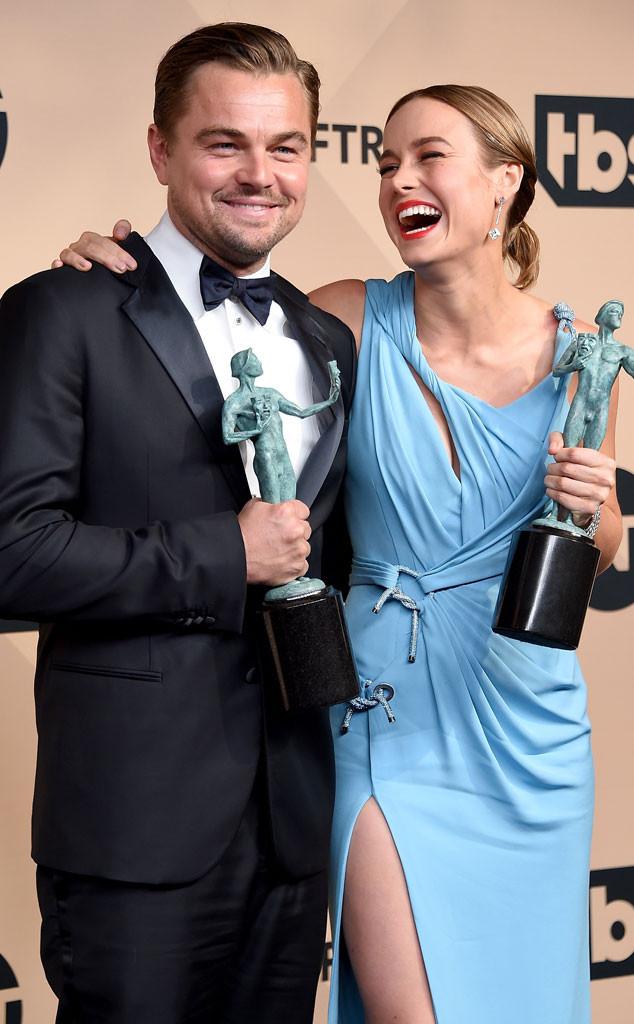 Leonardo DiCaprio, Brie Larson, SAG Awards 2016, Candids