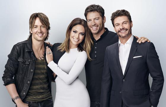 Keith Urban, Jennifer Lopez, Harry Connick, Jr., Ryan Seacrest, American Idol