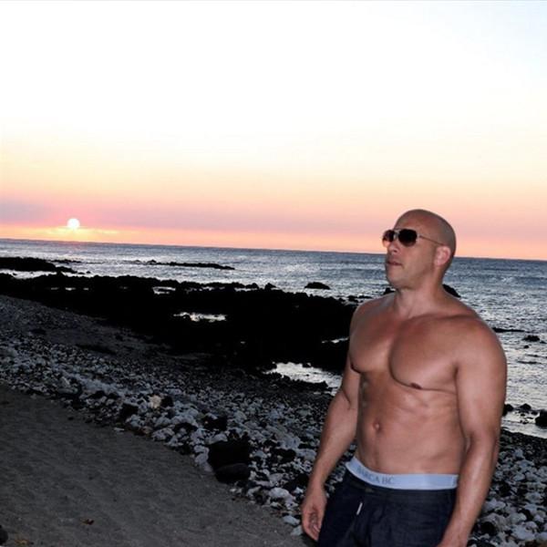 Vin Diesel Proves Again He Has No Dad Bod, Teases xXx ...