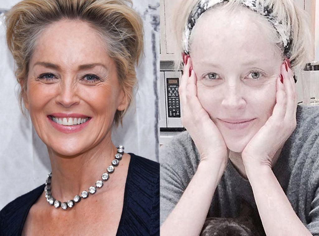 Sharon Stone, No Makeup