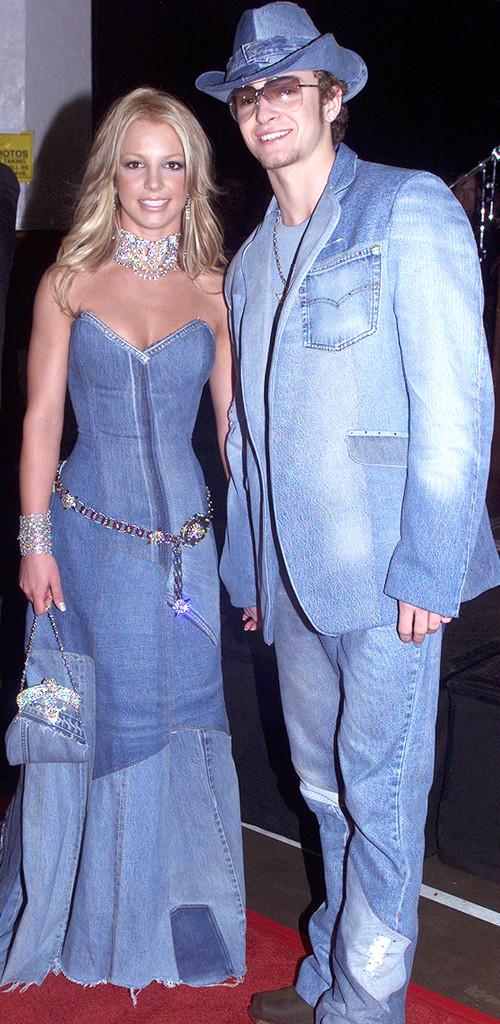 It S The 15th Anniversary Of Britney Justin S Denim Date E Online