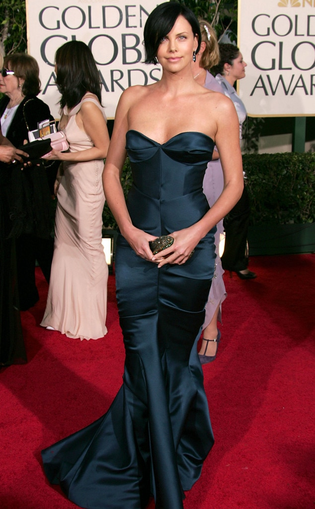 Charlize Theron from A Colorful History of Golden Globes ...