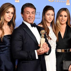 Sylvester Stallone, Sistene Stallone, Sophia Stallone, Scarlet Stallone