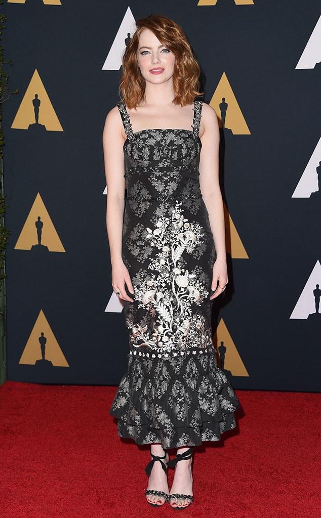 Emma Stone, Governors Awards 2016