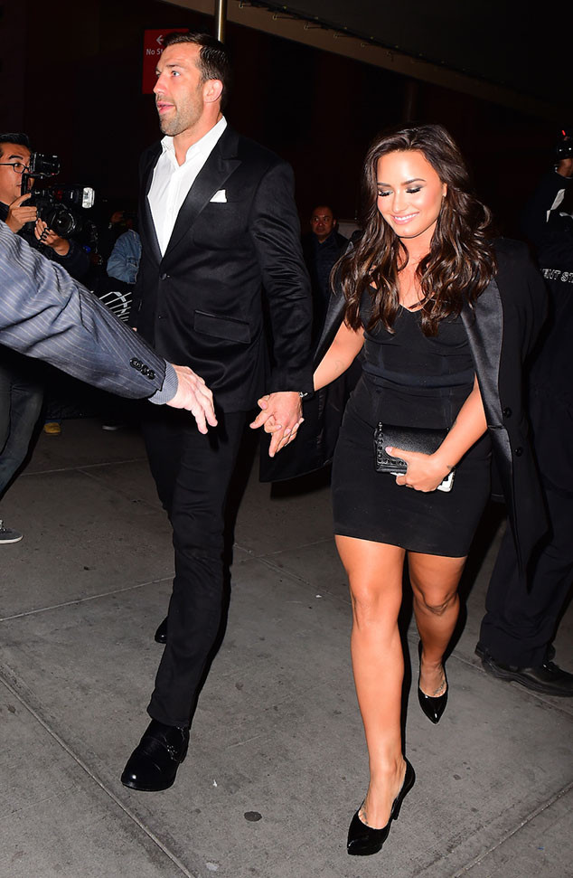 Demi Lovato and Luke Rockhold Step Out Holding Hands at UFC Fight Night in New York City
