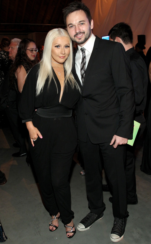 Christina Aguilera, Matthew Rutler, Baby2Baby Gala