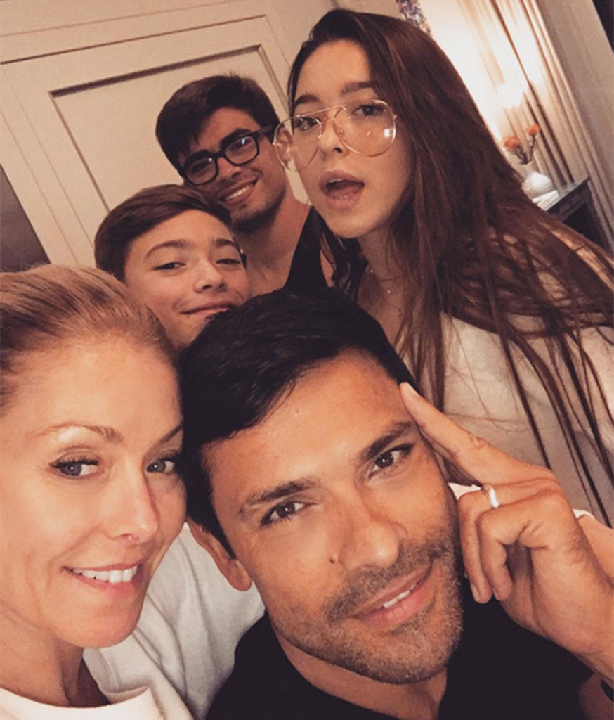 Kelly Ripa, Mark Consuelos, Family, Instagram