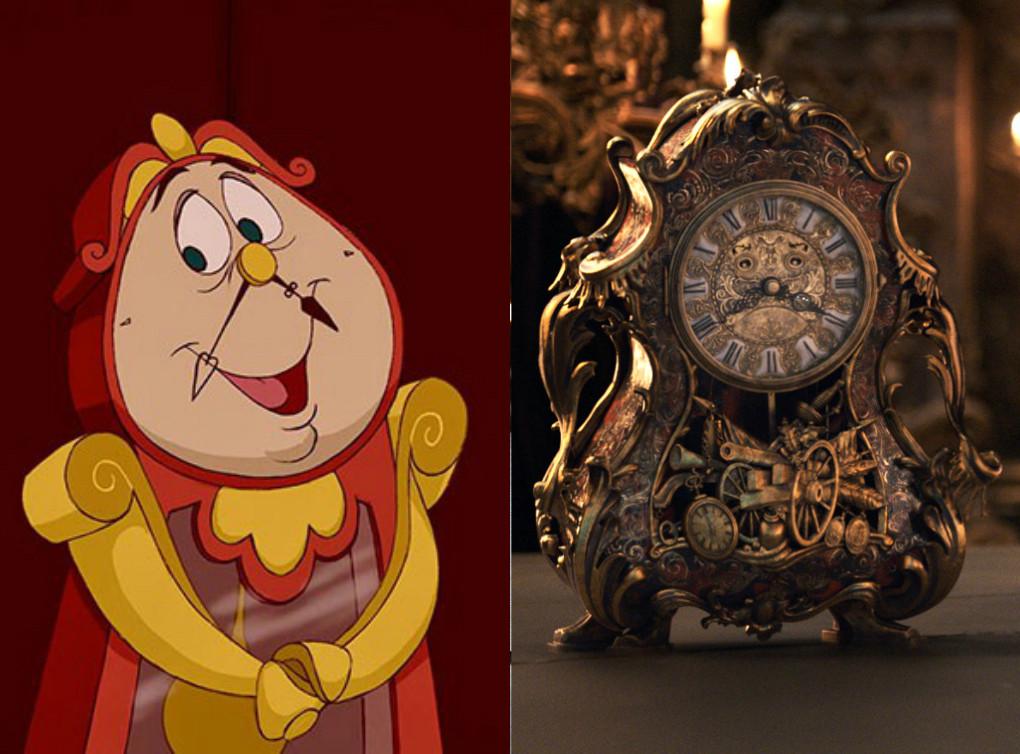 Personajes animados Vs. versión real de La Bella y La ...