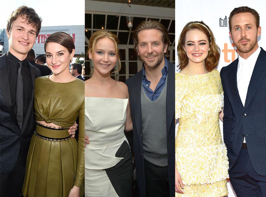 Shailene Woodley, Ansel Elgort, Jennifer Lawrence, Bradley Cooper, Emma Stone, Ryan Gosling